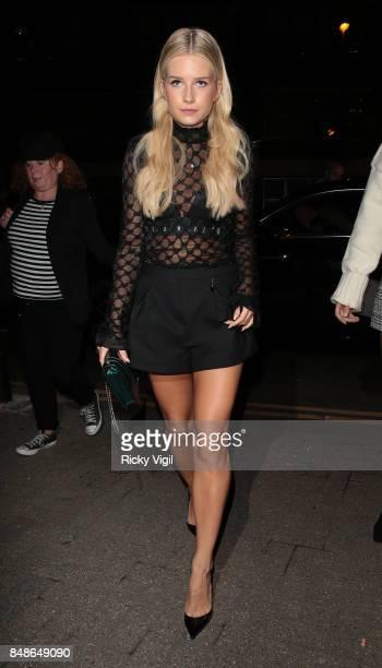 Lottie Moss seen at LFW s/s 2018 OffWhite x Mytheresacom intimate dinner at St John Bar Restaurant during London Fashion Week September 2017 on...