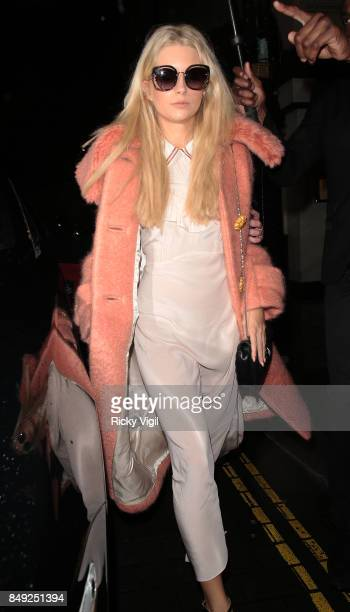 Lottie Moss seen at Miu Miu X LOVE Magazine party at No 5 Hertford Street during London Fashion Week September 2017 on September 18 2017 in London...