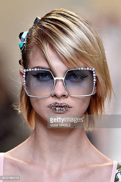 Lottie Moss walks the runway at the Fendi Ready to Wear designed by Silvia Venturini Fendi Karl Lagerfeld show Milan Fashion Week Spring/Summer 2017...