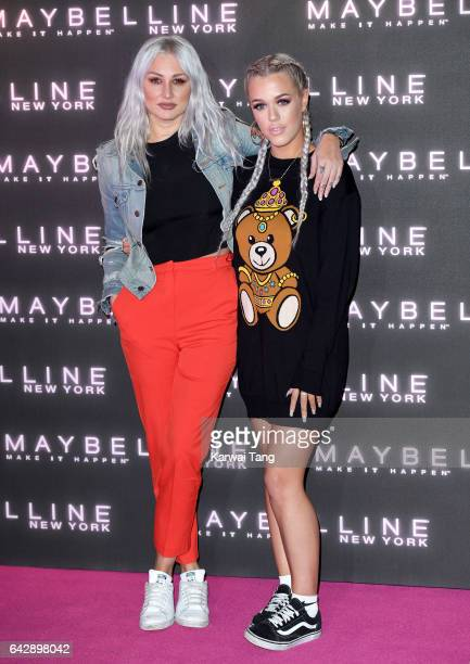 Lottie Tomlinson and Lou Teasdale attend the Maybelline Bring on the Night party at The Scotch of St James on February 18 2017 in London United...