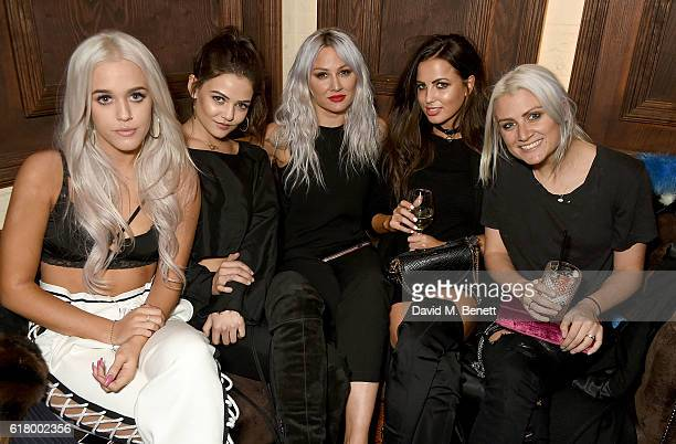 Lottie Tomlinson Danielle Campbell Lou Teasdale Sophia Smith and Sam Teasdale attend as Lottie Tomlinson hosts a party to launch her collection Nails...