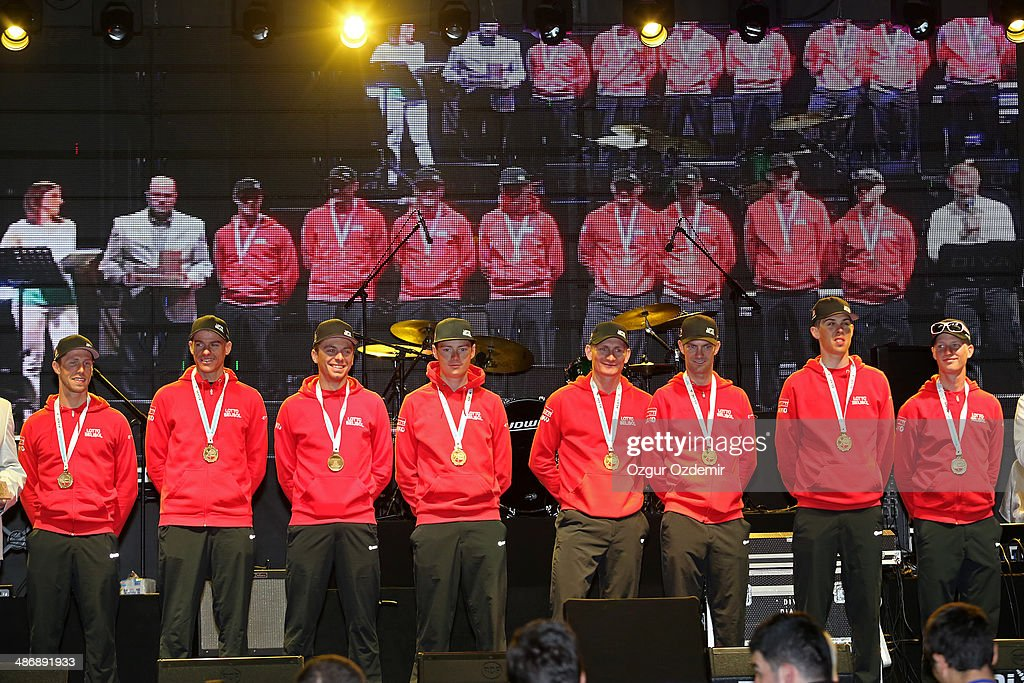 - Lotto - Belisol attends the opening ceremony of the 50th Presidential Cycling Tour at Alanya in the Mediterranean resorty city April 26, 2014 in Antalya, Turkey. The Tour which will be held between April 27 and May 4 in Turkey.