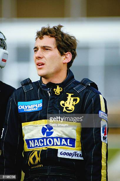 Lotus driver Ayrton Senna of Brazil at the F1 European Grand Prix held on October 6 1985 at the Brands Hatch circuit in Fawkham England