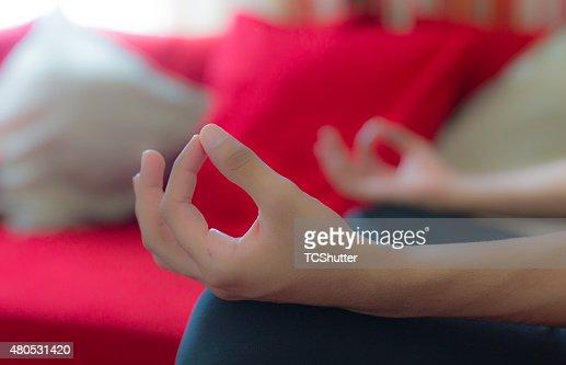 Lotus Pose : Stockfoto