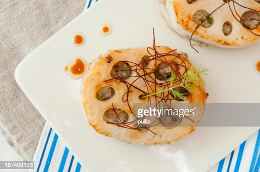 lotus root with meat : Stock Photo