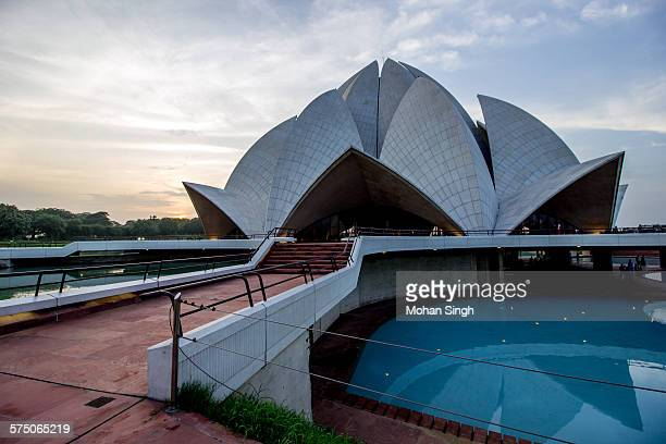 Lotus Temple at dusk