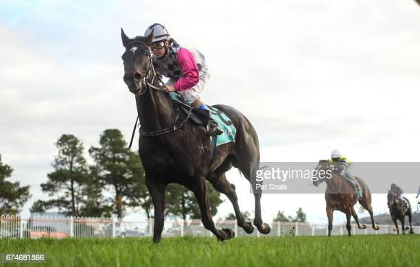 Lotza Kitty ridden by Holly McKechnie wins the WL â Billâ Biggin 0 58 Handicap at Ararat Racecourse on April 29 2017 in Ararat Australia