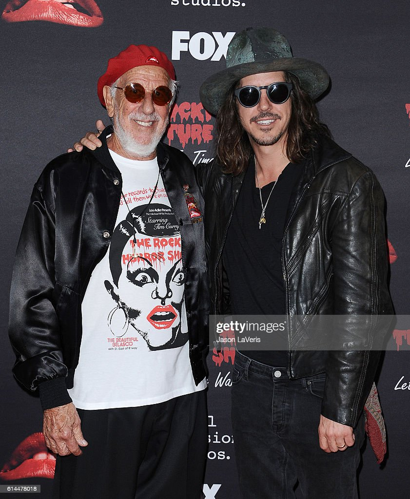Lou Adler and Cisco Adler attend the premiere of 'The Rocky Horror Picture Show: Let's Do The Time Warp Again' at The Roxy Theatre on October 13, 2016 in West Hollywood, California.