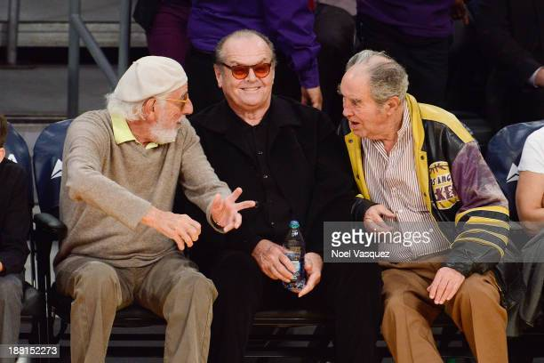 Lou Adler and Jack Nicholson attend a basketball game between the Memphis Grizzlies and the Los Angeles Lakers at Staples Center on November 15 2013...