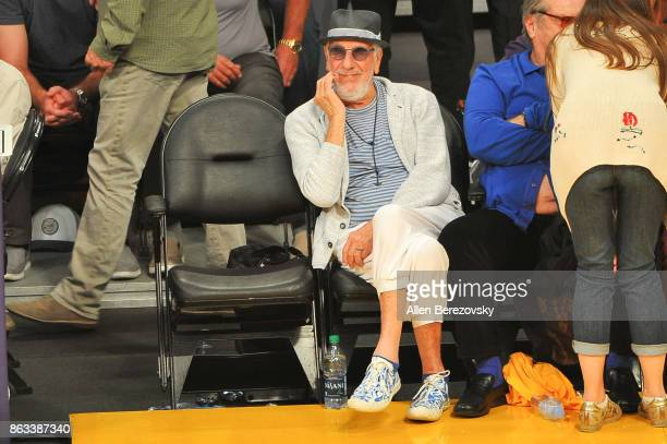 Lou Adler attends a basketball game between the Los Angeles Lakers and the Los Angeles Clippers at Staples Center on October 19 2017 in Los Angeles...