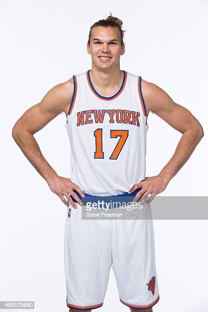 Lou Amundson of the New York Knicks poses for a portrait at Media Day at the MSG Training Facility in Greenburgh New York on September 28 2015 NOTE...