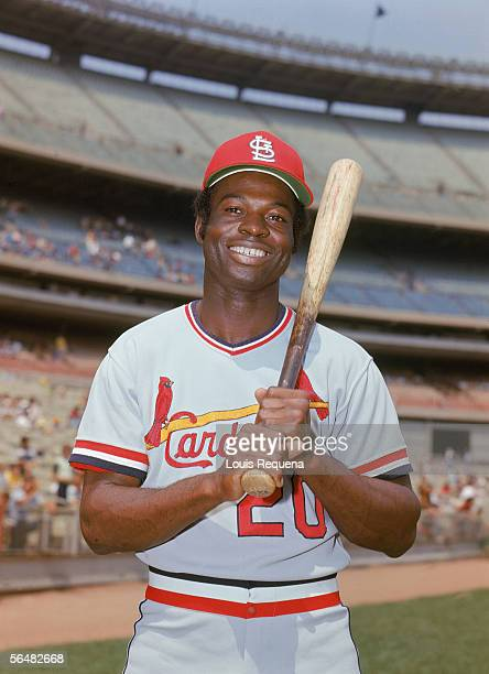 Lou Brock of the St Louis Cardinals pose for a portrait Lou Brock played for the St Louis Cardinals from 19641979