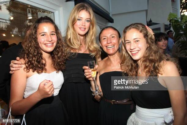 Lou Courcol Doutzen Kroes Zolika Courcol and Lena Courcol attend CHLOE Summer Party in East Hampton at Chloe Hamptons on July 17 2010 in East Hampton...
