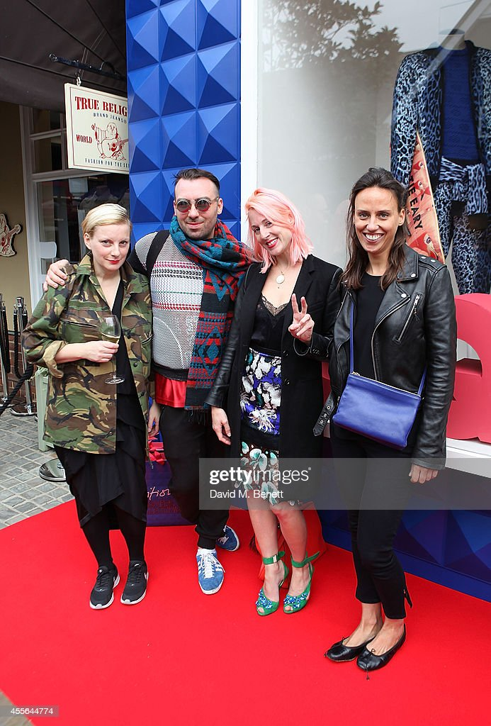 Lou Dalton James Long Katie Eary and Alexia Hentsch attend the official opening of British Designers' Collective Menswear curated by GQ at Bicester...