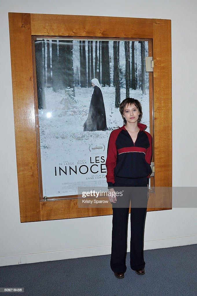 Lou de Laage attends the 'Les Innocentes' Paris Premiere at Cinema L'Arlequin on February 9, 2016 in Paris, France.