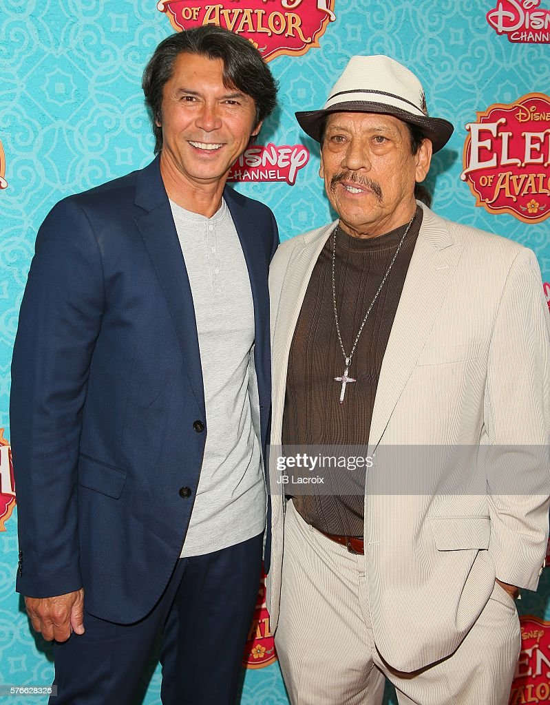 Lou Diamond Phillips and Danny Trejo attend the screening of Disney Channel's 'Elena of Avalor' on July 16, 2016 in Beverly Hills, California.