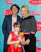 Lou Diamond Phillips and family attend the screening of Disney Channel's 'Elena Of Avalor' at The Paley Center for Media on July 16 2016 in Beverly...