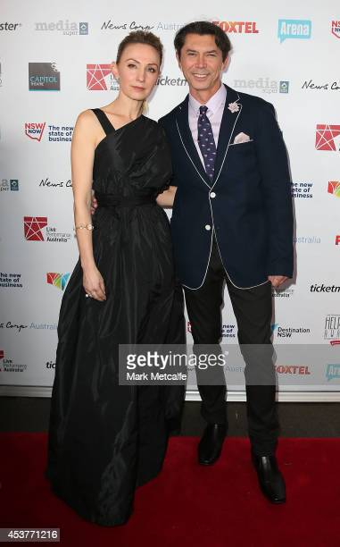 Lou Diamond Phillips and Lisa McCune arrive at the 2014 Helpmann Awards at the Capitol Theatre on August 18 2014 in Sydney Australia