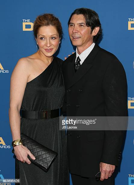Lou Diamond Phillips and Lisa McCune attend the 67th Annual Directors Guild Of America Awards at the Hyatt Regency Century Plaza on February 7 2015...