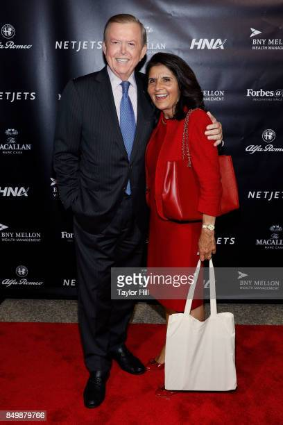 Lou Dobbs And Debi Lee Roth Segura Attend The Forbes Media