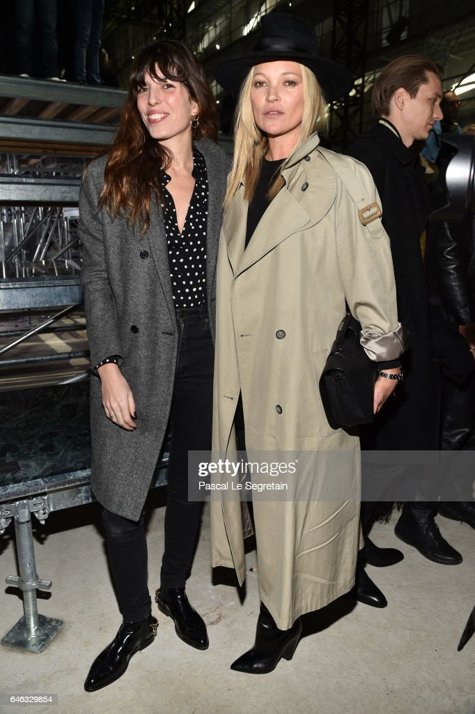 lou-doillon-and-kate-moss-attend-the-saint-laurent-show-as-part-of-picture-id646329854