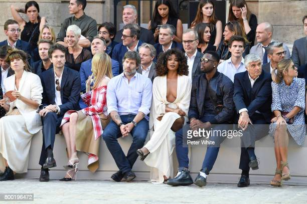 Lou Doillon Antoine Arnault Natalia Vodianova Jalil Lespert Gabrielle Union and Dwyane Wade attend the Berluti Menswear Spring/Summer 2018 show as...