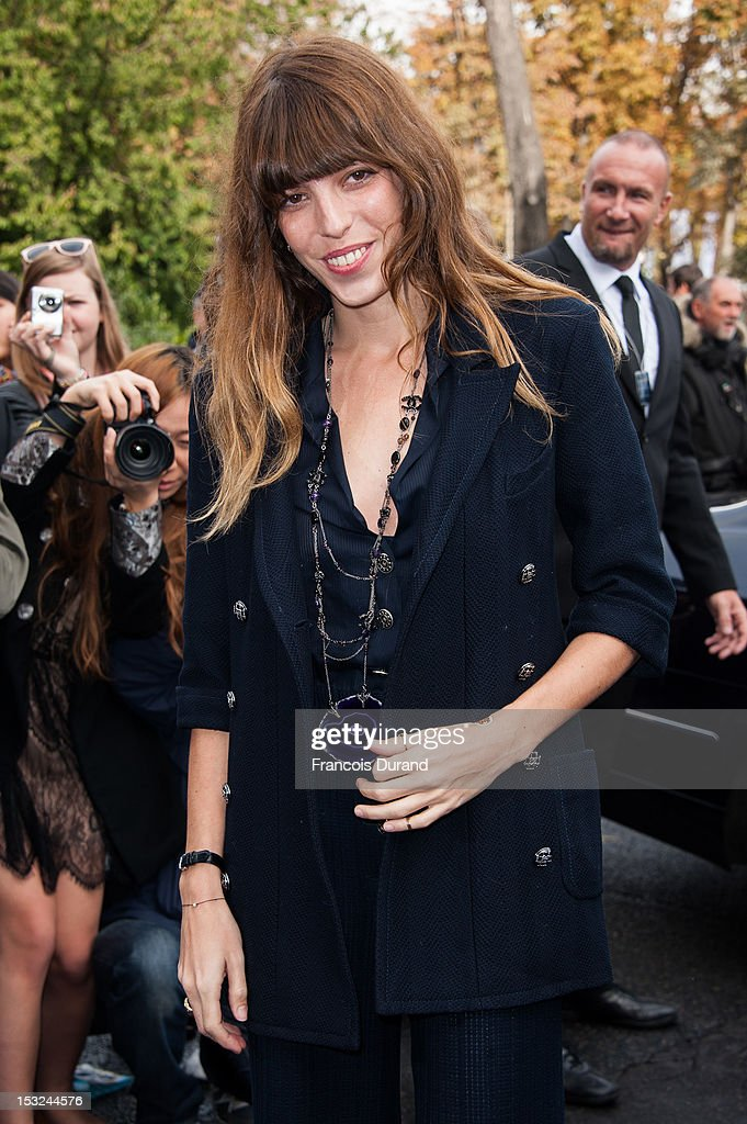 Lou Doillon arrives at the Chanel Spring / Summer 2013 show as part of Paris Fashion Week at Grand Palais on October 2, 2012 in Paris, France.