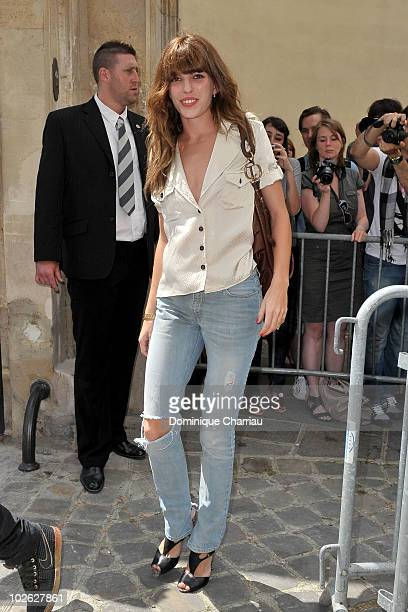 Lou Doillon arrives at the Dior show as part of Paris Fashion Week Fall/Winter 2011 at Musee Rodin on July 5 2010 in Paris France