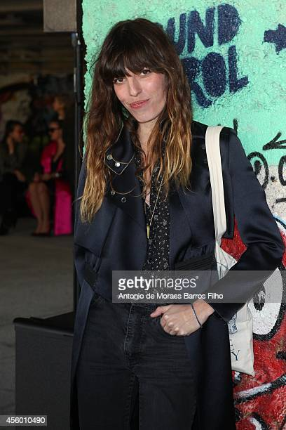 Lou Doillon attends the Anthony Vaccarello show as part of the Paris Fashion Week Womenswear Spring/Summer 2015 on September 23 2014 in Paris France