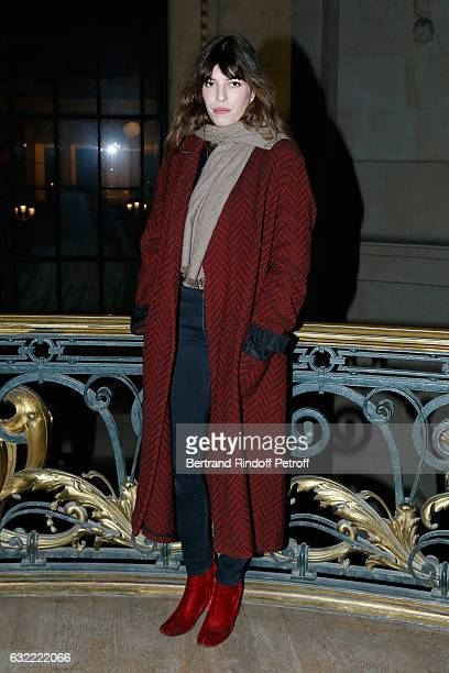 Lou Doillon attends the Berluti Menswear Fall/Winter 20172018 show as part of Paris Fashion Week on January 20 2017 in Paris France