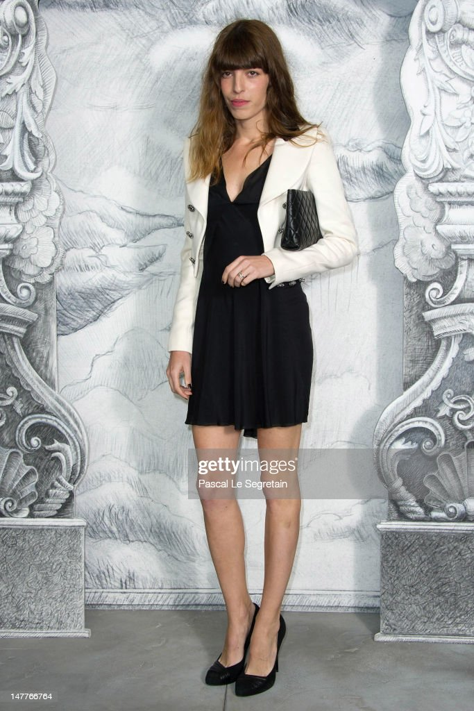 Lou Doillon attends the Chanel Haute-Couture show as part of Paris Fashion Week Fall / Winter 2012/13 at the Grand Palais on July 3, 2012 in Paris, France.