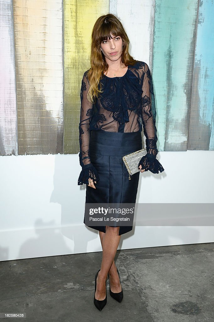 <a gi-track='captionPersonalityLinkClicked' href=/galleries/search?phrase=Lou+Doillon&family=editorial&specificpeople=208822 ng-click='$event.stopPropagation()'>Lou Doillon</a> attends the Chanel show as part of the Paris Fashion Week Womenswear Spring/Summer 2014 at Grand Palais on October 1, 2013 in Paris, France.