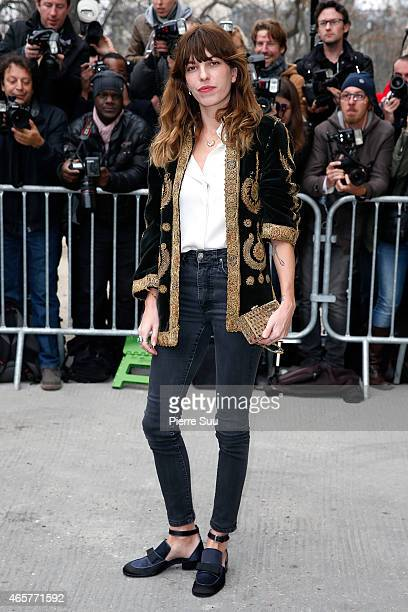 Lou Doillon attends the Chanel show as part of the Paris Fashion Week Womenswear Fall/Winter 2015/2016 on March 10 2015 in Paris France
