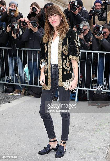Lou Doillon attends the Chanel show during Paris Fashion Week Fall Winter 2015/2016 on March 10 2015 in Paris France