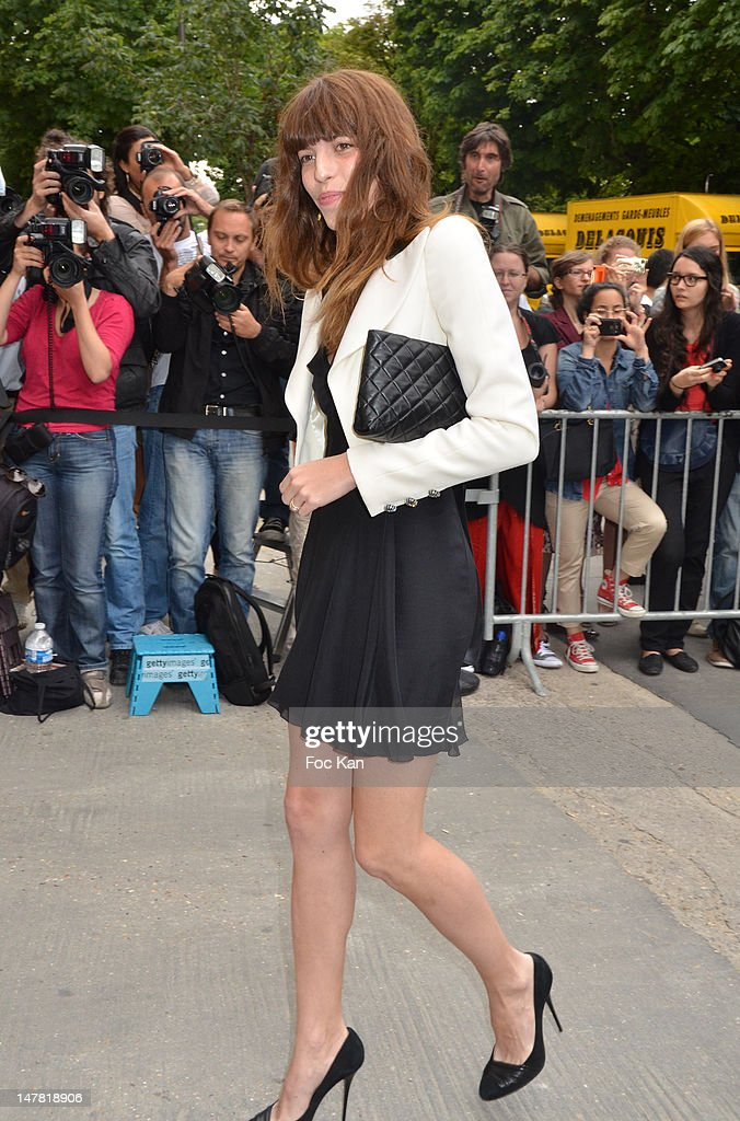 Lou Doillon attends the Chanel show during Paris Fashion Week Haute Couture F/W 2012/13 at Le Grand Palais on July 3, 2012 in Paris, France.