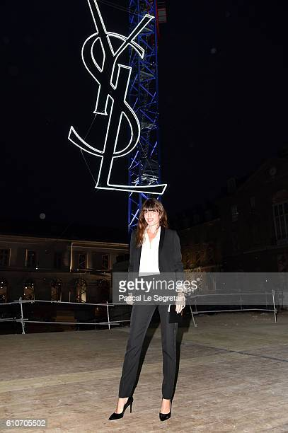 Lou Doillon attends the Saint Laurent show as part of the Paris Fashion Week Womenswear Spring/Summer 2017 on September 27 2016 in Paris France