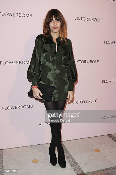 Lou Doillon attends the Victor Rolf 'Flower Bomb' 5th Anniversary during Paris Fashion Week at Hotel Meurice on March 4 2010 in Paris France