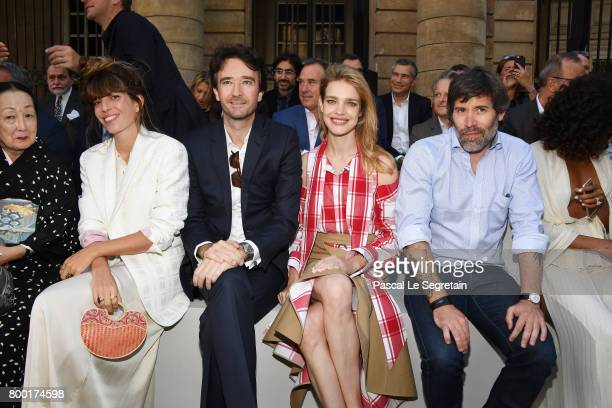 Lou DoillonAntoine ArnaultNatalia Vodianova and Jalil Lespert attend the Berluti Menswear Spring/Summer 2018 show as part of Paris Fashion Week on...