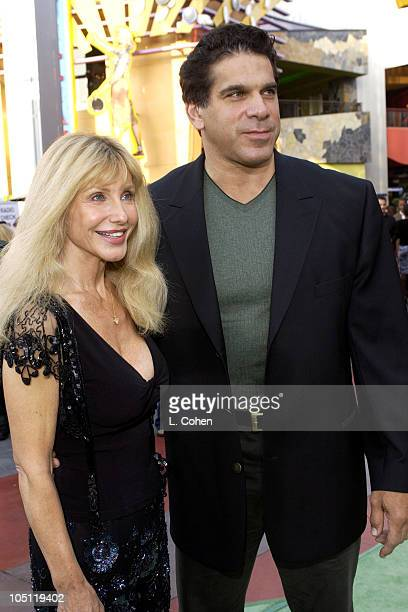 Lou Ferrigno and Wife Carla during World Premiere Of 'The Hulk' Hollywood Green Carpet at Universal Amphitheatre in Universal City California United...