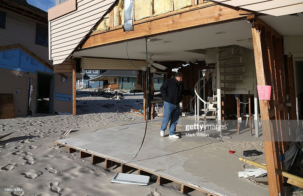 Lou Friedella is devastated by the damage to his beach house caused by Superstorm Sandy on November 25, 2012 in Ortley Beach, New Jersey. The Friedella's owned their beach house for 31 years before Superstorm Sandy moved it off its foundation and partially demolished it.