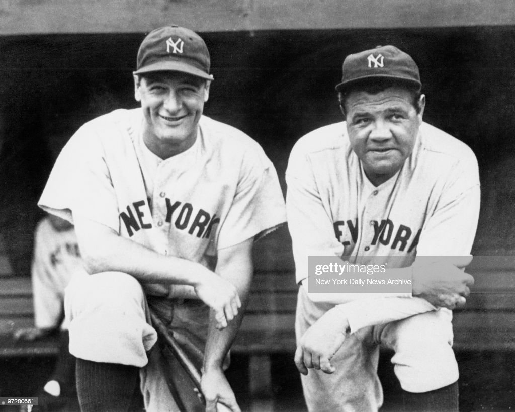 <a gi-track='captionPersonalityLinkClicked' href=/galleries/search?phrase=Lou+Gehrig&family=editorial&specificpeople=93714 ng-click='$event.stopPropagation()'>Lou Gehrig</a> and <a gi-track='captionPersonalityLinkClicked' href=/galleries/search?phrase=Babe+Ruth&family=editorial&specificpeople=94423 ng-click='$event.stopPropagation()'>Babe Ruth</a> team up for final championship together.