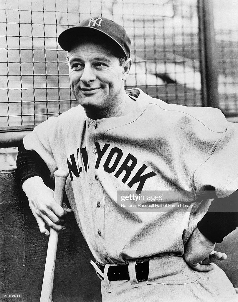 Lou Gehrig #4 of the New York Yankees poses for a portrait. Henry Louis Gehrig played his entire career for the Yankees from 1923-39.