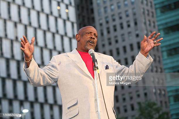 Lou Gossett Jr during Comcast Film Series Presents Lou Gossett Jr at Campus Martius Park in Detroit United States
