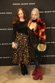 Lou Hayter and Harriet Verney attends the Diesel Black Gold Flagship Store Cocktail Party during the London Collections Men SS15 on June 16 2014 in...
