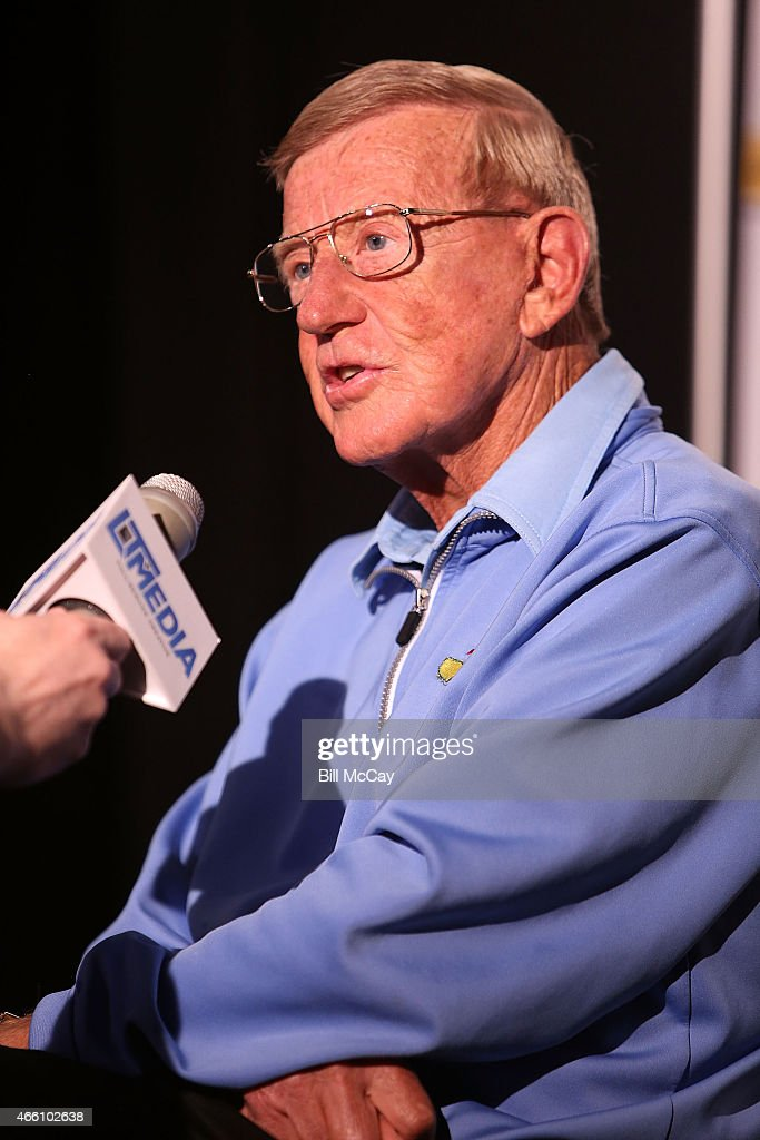 Lou Holtz winner of the Reds Bagnell Award for contribution to the game of Football attends the 78th Annual Maxwell Football Club Awards Gala Press Conference at the Tropicana Casino March 13, 2015 in Atlantic City, New Jersey.