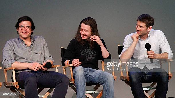 Lou Howe Rory Culkin and Ben Howe attend Apple Store Soho Presents Tribeca Film Festival 'Gabriel' at Apple Store Soho on April 24 2014 in New York...