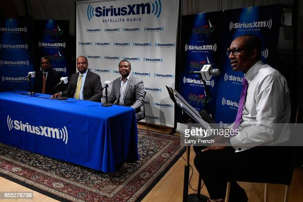 Lou Hutt hosts Pathways To Entrepreneurship on the Urban View channel at SiriusXM Studios with panelists Mark Harrison Anthony Caudle CEO of Red Tail...