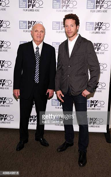 Lou Lamoriello and Gabe Polsky attend the 'Red Army' photo call during the 52nd New York Film Festival at Walter Reade Theater on October 4 2014 in...