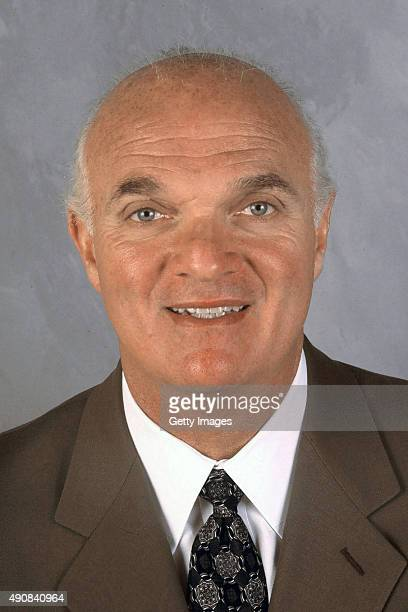 Lou Lamoriello of the Toronto Maple Leafs poses for his official headshot in East Rutherford New Jersey