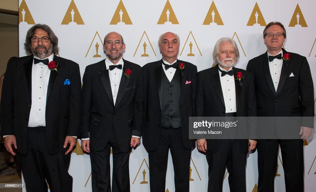 Lou Levinson, David Reisner, Joshua Pines, Curtis Clark and David Register arrives at the Academy Of Motion Picture Arts And Sciences' Scientific And Technical Awards Ceremony at Beverly Hills Hotel on February 15, 2014 in Beverly Hills, California.
